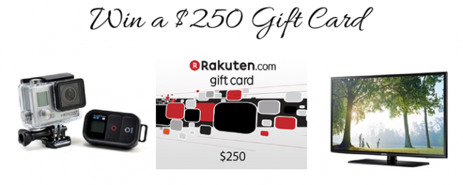 Enter to Win a $250 Rakuten.com Gift Card