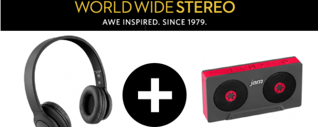 World Wide Stereo Giveaway: Wireless Speaker and Bluetooth Headphones