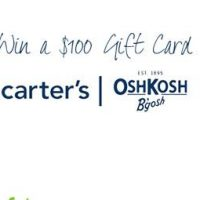 Enter to Win a $100 Gift Card to Carter's/OshKosh!