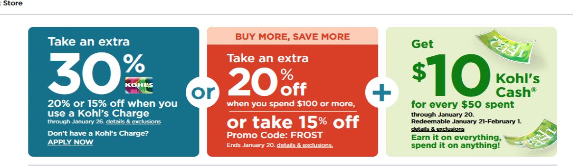 kohls 30 off coupon